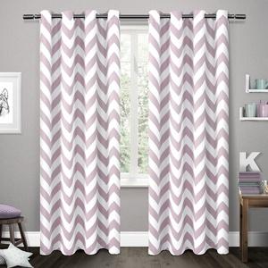 Exclusive Home EK5304-02 2-96G Kids Mars Woven Room Darkening Thermal Grommet Top Window Curtain Panel Pair, Lilac, 54
