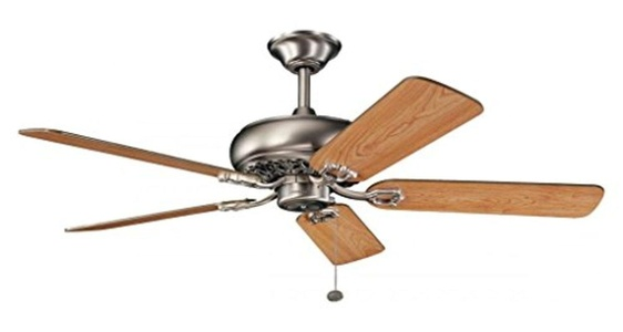 Antique Pewter Bentzen 52In. Indoor Ceiling Fans With 5 Blades - Includes 4In. Downrod