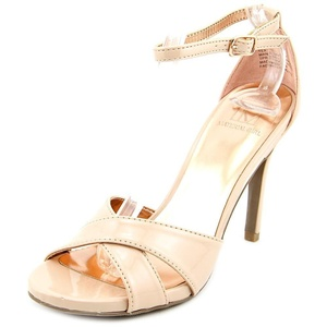 Material Girl Sara Women Open Toe Synthetic Sandals, Nude, Size 7.0