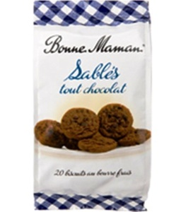 French Chocolate Shortbread Bonne Maman-Sables Tout Chocolat Bonne Maman - 8,82 Oz by Bonne Maman