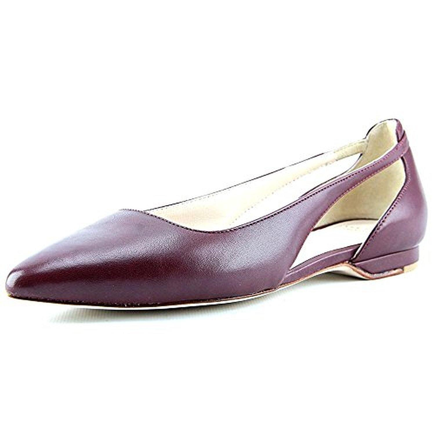 Cole Haan Amalia Sling.Skimmer Women Pointed Toe Leather Burgundy Flats