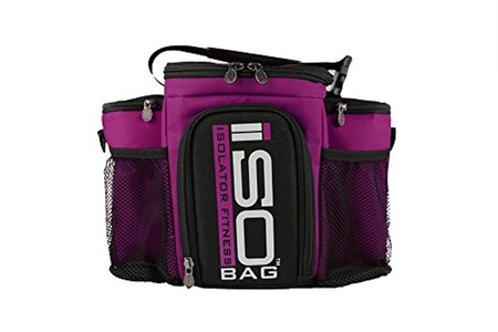 Isobag 3 Meal Reverse Fuchsia/Black by Isolator Fitness