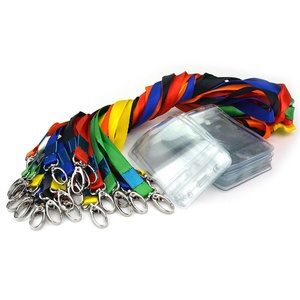 Jmkcoz 24pcs Name Tags Badge Holder ID Card Holder With Colored Lanyard