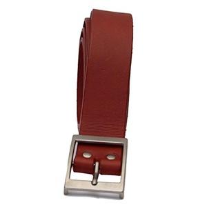 Mens Red Real Cowhide Leather Britsh Handmade Belts. Belt Width - 1.25