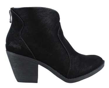 Blowfish Women's Schloss Round Toe Black Fawn Ankle Boot 8.5 M