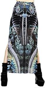 Lip Service Gothic Hippie Printed Mesh Maxi Dress (S)