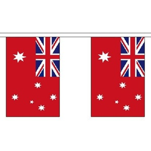 Australia Red Ensign Bunting 9M Long - 30 Flags Australian Military Decoration by Australia Red Ensign