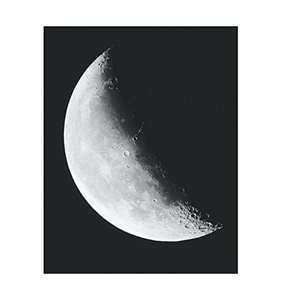 Moon Phase Poster Print Art, 11 x 14 Inches, Black White Grey Color, Modern Home Decor