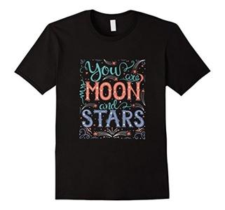 Men's Moon and Stars Large Black