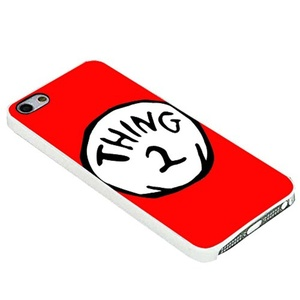 Red Thing 2 Dr Seuss Best Friends For iPhone Case (iPhone 5/5s white)