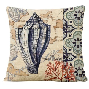Iuhan Fashion Marine Style Cotton Linen Cushion Cover Throw Waist Pillow Case Sofa Home Decor