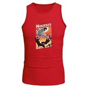 Ninjesus for Men Printed Tanks Tops Sleeveless T-shirt