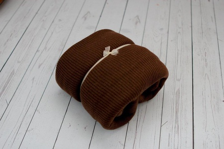 Bonbons Newborn Dark Brown Newborn Photography Fabric, Newborn Backdrop, Newborn Photo Prop, Newborn Baby Blanket Macaron Knit Newborn Photography