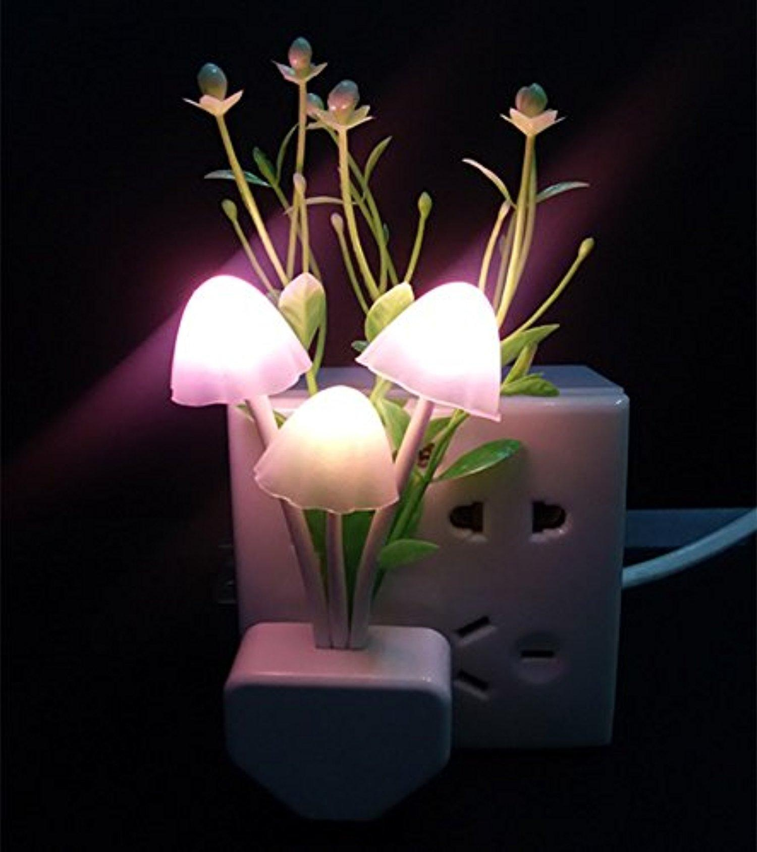 Automatic night lights decorative - Mushroom Led Night Light Lamp Automatic Working At Night Energy Saving Lamps For Children S Room