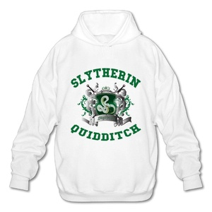 NUBIA Men's Harry Slytherin Quidditch Potter Long Sleeve Hoodies White L