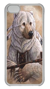 Bear of Peace Polycarbonate Hard Case Cover for iPhone 5C Transparent