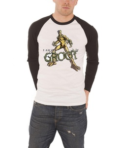 Guardians Of The Galaxy T Shirt I Am Groot Logo Official Mens White Baseball