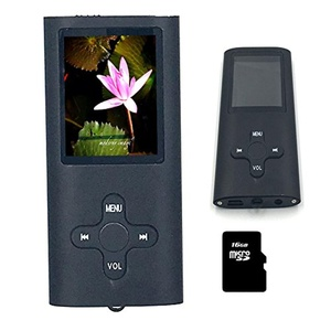 8GB Slim MP3 MP4 Music Player 1.8 inch LCD Screen FM Radio Video Player with accessories(Black)