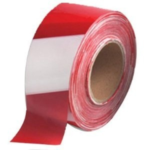 Barrier Tape Red/White 75mm x 500M by TL