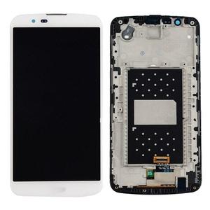 New White LG K10 K410 K420 K430 Touch Digitizer Glass+Lcd Display Assembly Frame