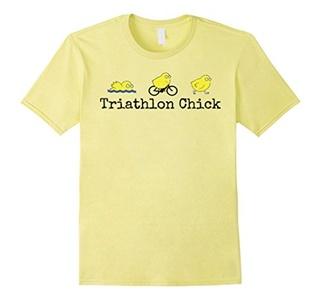 Men's Triathlon Chick Bike Shirt Medium Lemon
