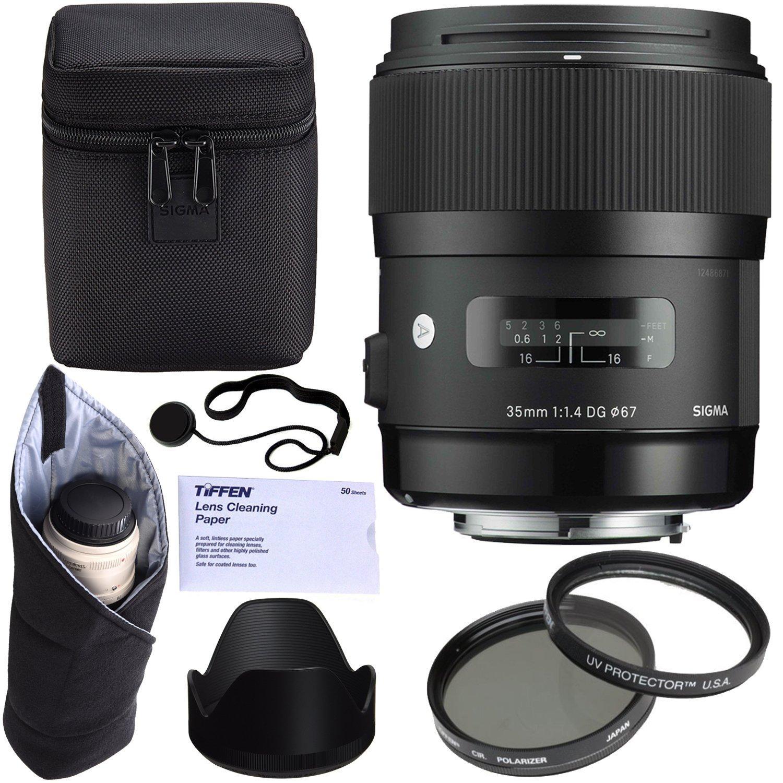 Online Store Sigma 35mm F14 Art Dg Hsm Lens For Nikon Tiffen I Filter Kit
