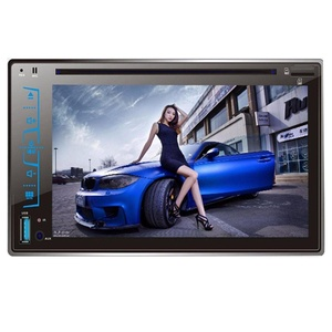 Oucan 7 Inch HD Touch Screen 2 Din Car Stereo CD DVD Player AM/FM Radio Bluetooth Hands-free AUX In Sub-woofer Output IR Remote Control Steering Wheel Control Rear View Camera Input Function