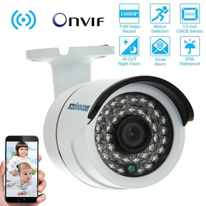 KKmoon Full HD 2.0MP 1080P CCTV Security Camera, Wireless WiFi Network IP Cloud Indoor & Outdoor Bullet Camera support P2P Android/iOS APP Onvif2.4 IR-CUT Filter Infrared Night View Motion Detection