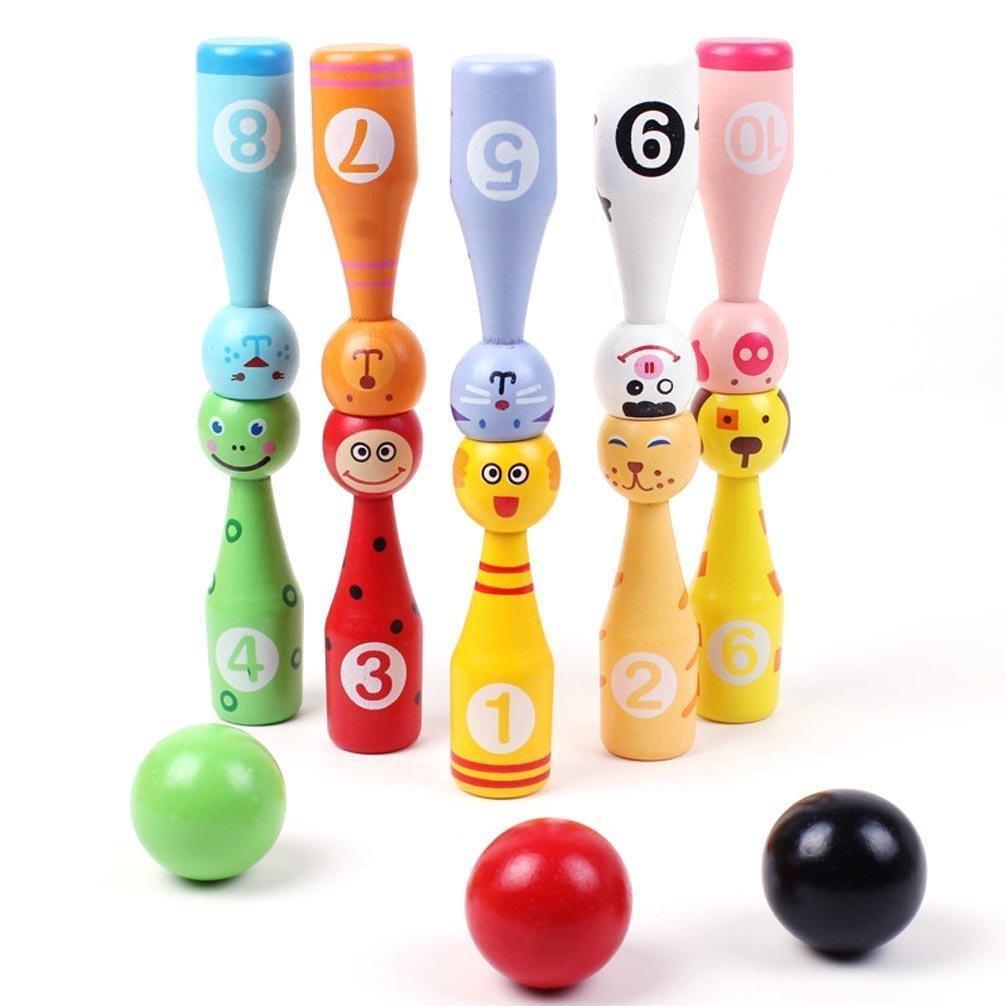 Animals Toys Color : Online store sunone animals balls wooden