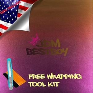 Free Tool Kit EZAUTOWRAP Purple Gold Chameleon Car Vinyl Wrap Sticker Decal Film Sheet with Air Release Technology - 36