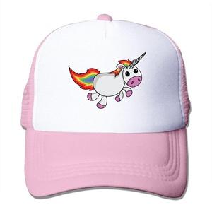 Unicorn Adult Adjustable Trucker Mesh Hat Baseball Cap Pink
