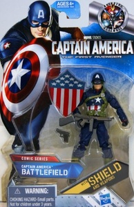 Marvel - Captain America - The First Avenger Comic Series - 29549 - Captain America Battlefield figure - includes Shield & Weapons by Captain america