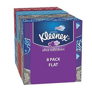 Kleenex Ultra Soft Tissues, White, 120ct, Pack of 8 by Kleenex