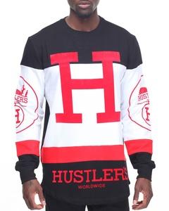 Hudson Outerwear Men's Hustlers L/S T-Shirt, Black, XX-Large