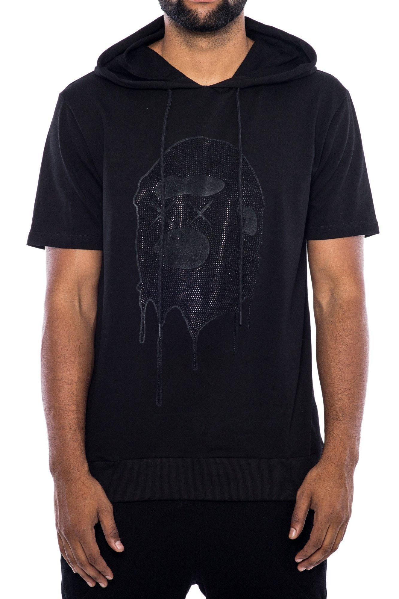 Hudson Outerwear Black Out Stone Ape Short Sleeve Hoodie