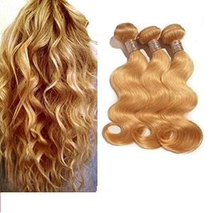 100% Unprocessed Brazilian Real Human Hair 3 Bundles Light Brown Body Weave Hair Extensions(12 14 16)300g
