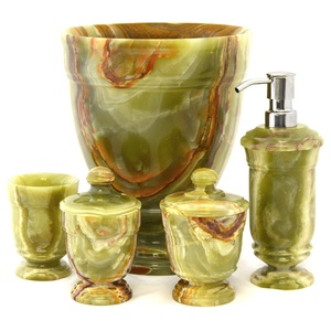 Nature Home Decor Classic Green Onyx 5-Piece Bathroom Accessory Set of Tasmanian Collection