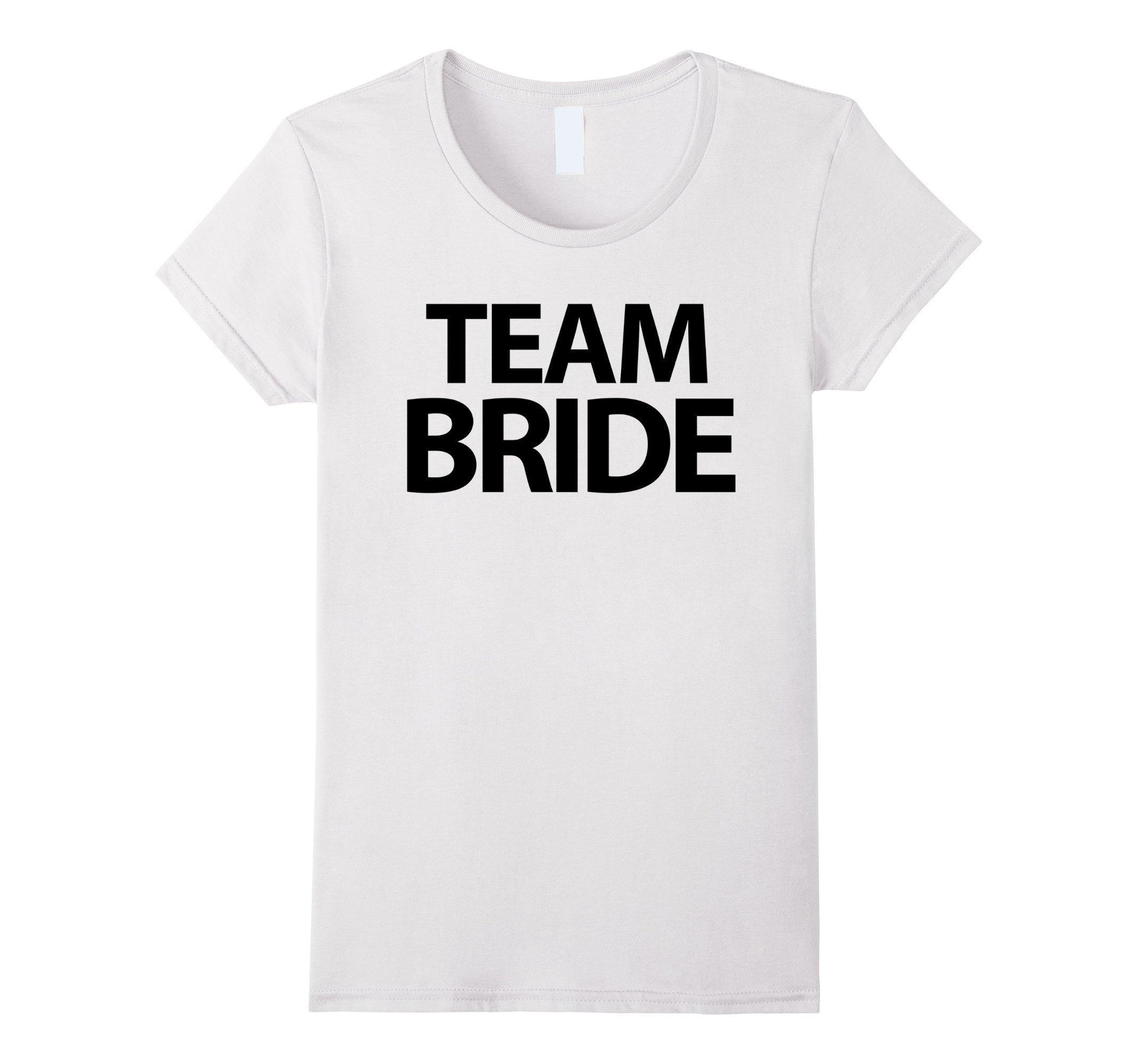 Women's Team Bride Shirts White Bachelorette Party Shirts Large White