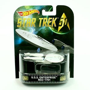 U.S.S. ENTERPRISE NCC-1701 from the classic TV show STAR TREK Hot Wheels 2015 Retro Series 1:64 Scale Die Cast Vehicle by Retro Series