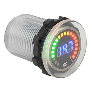 XCSOURCE Car Motorcycle Waterproof Blue LED Digital Panel Display Voltmeter Voltage Volt Meter Gauge Transparent DC 12V-24V MA834