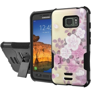 [AT&T] Galaxy [Active S7] Armor Case [NakedShield] [Black/Black] Urban Shockproof Defender [Kick Stand] - [Rose] for Samsung Galaxy [S7 Active]