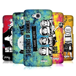 Custom Customized Personalized 5 Seconds Of Summer Mixed Icons Hard Back Case for LG L90 Dual D410