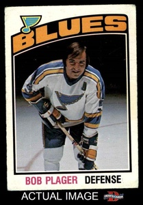 1976 O-Pee-Chee NHL # 369 Bob Plager St. Louis Blues (Hockey Card) Dean's Cards 3 - VG