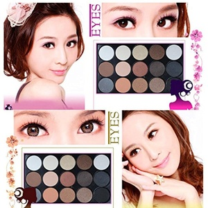 15 Color Professional Cosmetic Eye Shadow Pigments Makeup Palette Matte UF