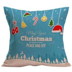 Iuhan® Fashion Christmas Pillow Case Sofa Waist Throw Cushion Cover Home Decor (F)