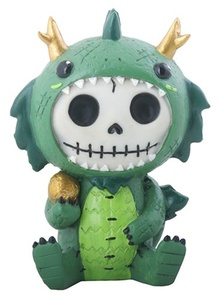Furry Bones TATSU the Dragon Figurine, Skeleton in Costume