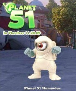 Burger King Kids Meal Planet 51 Movie Humaniac Action Figure Toy 2009 by Bk