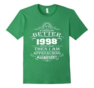 Men's 18 Years Old Gift T-Shirt Made In 1998 18th Birthday  Large Grass