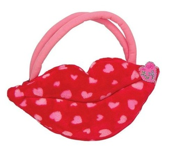 Ty Smooches - Lip Purse - Red with Pink Hearts by Ty Smooches - Lip Purse - Red with Pink Hearts