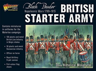 Black Powder Napoleonic British Waterloo Starter Army - 146x 28mm Miniatures - Table Top Gaming by BlackPowder